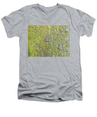 Natural Abstract 1 Old Fence With Moss Men's V-Neck T-Shirt