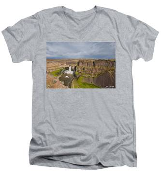 Palouse Falls Men's V-Neck T-Shirt