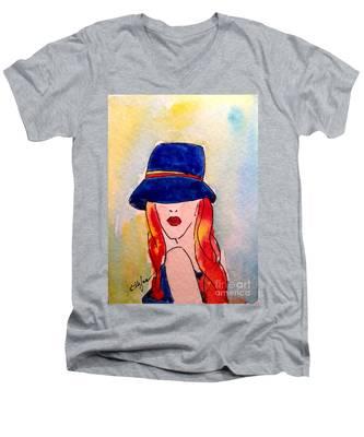 Portrait Of A Woman Men's V-Neck T-Shirt