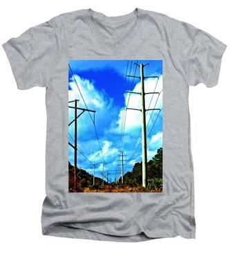 Power To The Infinity Men's V-Neck T-Shirt