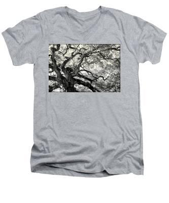 Reaching For Heaven Men's V-Neck T-Shirt