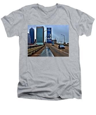 Ride The Rail Men's V-Neck T-Shirt
