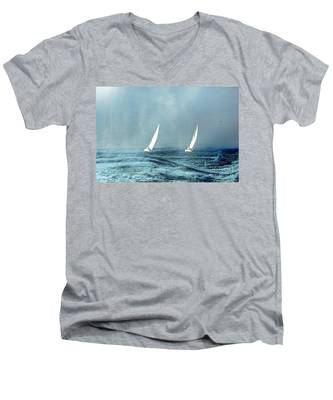 Sailing Into The Unknown Men's V-Neck T-Shirt