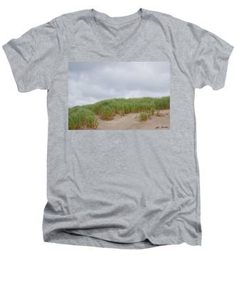 Sand Dunes And Grass Men's V-Neck T-Shirt