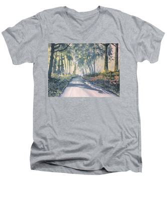 Shadows On The Setterington Road Men's V-Neck T-Shirt