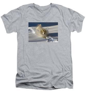 Snowplow Men's V-Neck T-Shirt