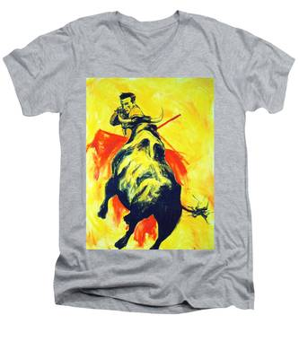 Spanish Bullfight Men's V-Neck T-Shirt