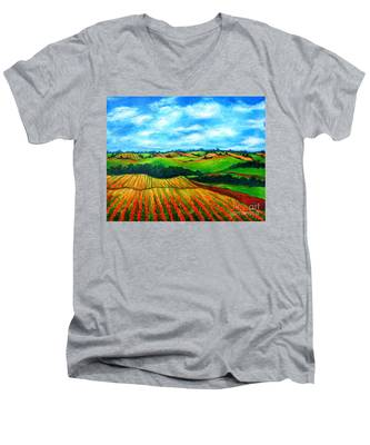 Spring In Prince Edward Island Men's V-Neck T-Shirt