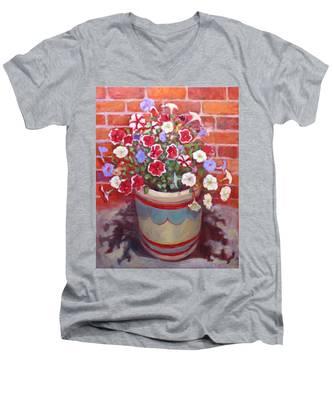 St008 Men's V-Neck T-Shirt