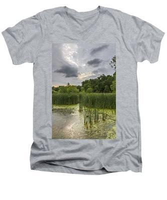 Summer Evening Clouds Men's V-Neck T-Shirt