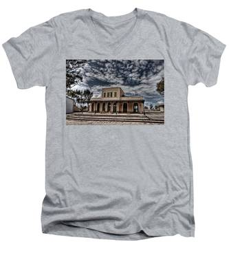 Tel Aviv First Railway Station Men's V-Neck T-Shirt