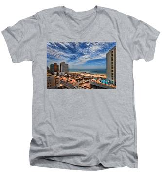 Tel Aviv Summer Time Men's V-Neck T-Shirt