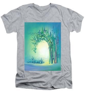 The Boundary Bush Men's V-Neck T-Shirt