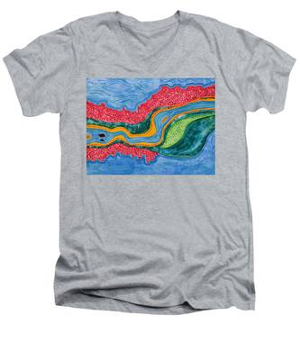 The Riffles Original Painting Men's V-Neck T-Shirt