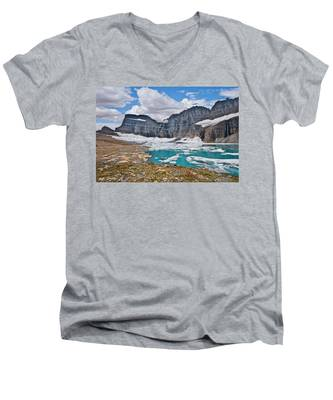 Upper Grinnell Lake And Glacier Men's V-Neck T-Shirt