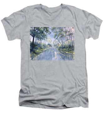 Wet Road In Woldgate Men's V-Neck T-Shirt
