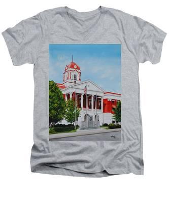 White County Courthouse - Veteran's Memorial Men's V-Neck T-Shirt