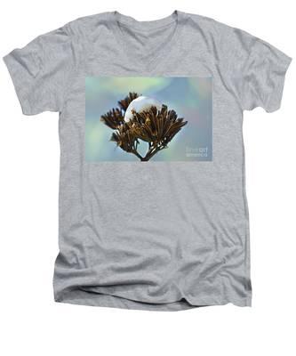 Winter Agave Bloom Men's V-Neck T-Shirt