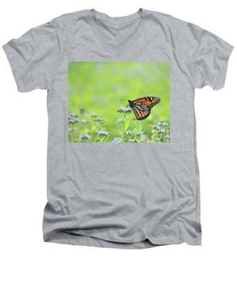 Monarch And Mist Men's V-Neck T-Shirt