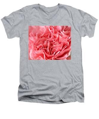 Pink Carnation Men's V-Neck T-Shirt