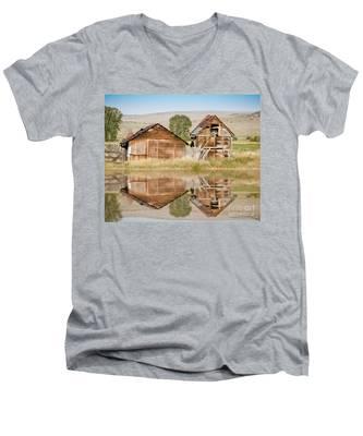 Reflection Of An Old Building Men's V-Neck T-Shirt