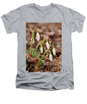 Snow Drops Men's V-Neck T-Shirt