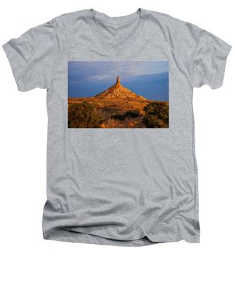 Sunrise At Chimney Rock Men's V-Neck T-Shirt