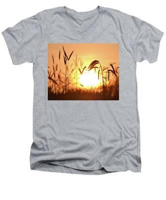 Sunset Rye IIi Men's V-Neck T-Shirt