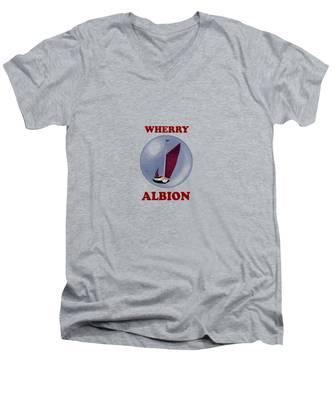 The Wherry Albion Men's V-Neck T-Shirt