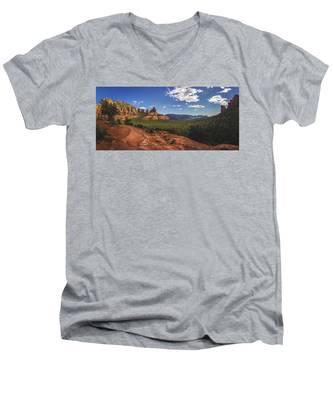 Mormon Canyon Panorama Men's V-Neck T-Shirt