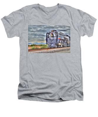 Steam Train No 844 Men's V-Neck T-Shirt