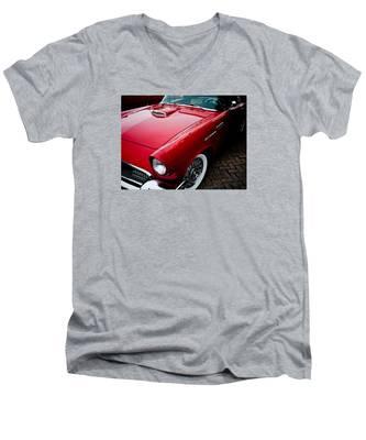 1956 Ford Thunderbird Men's V-Neck T-Shirt