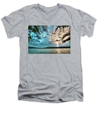Beautiful Landscape Scenes At Lake Jocassee South Carolina Men's V-Neck T-Shirt