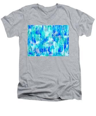 Abstract Winter Men's V-Neck T-Shirt
