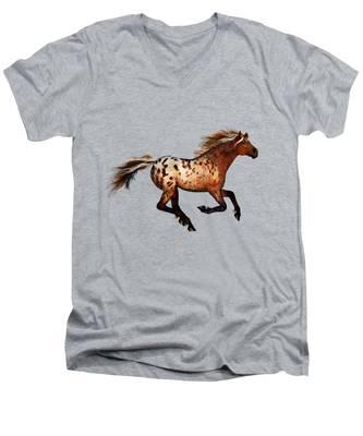 An Appaloosa Called Ginger Men's V-Neck T-Shirt