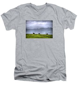 Men's V-Neck T-Shirt featuring the photograph Animals Livestock-03 by Joseph Amaral
