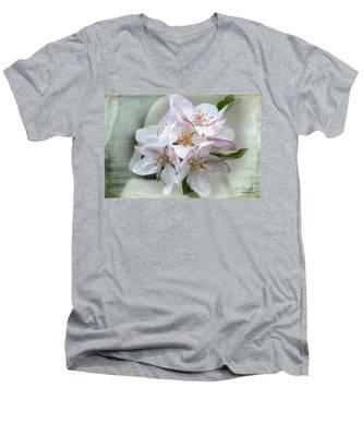 Apple Blossoms From My Hepburn Garden Men's V-Neck T-Shirt