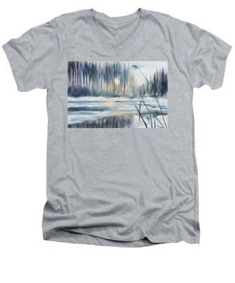 Snow From Yesterday Men's V-Neck T-Shirt