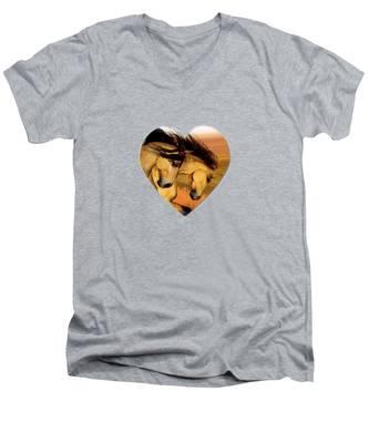 The Buckskins Men's V-Neck T-Shirt