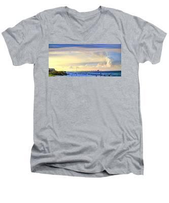 Beach House Window Men's V-Neck T-Shirt
