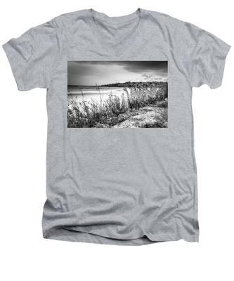 Beach In Ogunquit Men's V-Neck T-Shirt
