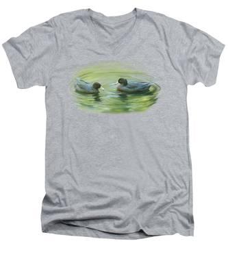 Blue Ducks  Men's V-Neck T-Shirt