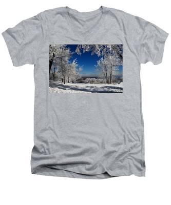 Blue Knob Men's V-Neck T-Shirt
