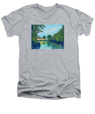 Burnby Hall Men's V-Neck T-Shirt