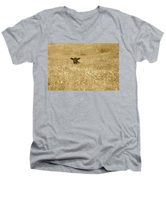 Buttercup In Sepia Men's V-Neck T-Shirt