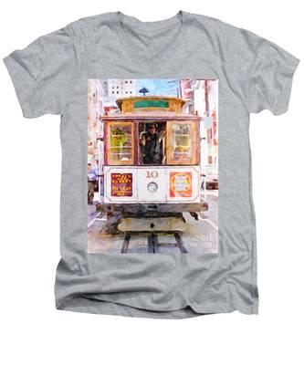 Cable Car No. 10 Men's V-Neck T-Shirt