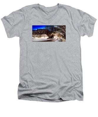 Celebrate The Winter Night Men's V-Neck T-Shirt