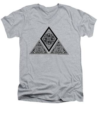 Celtic Pyramid Men's V-Neck T-Shirt