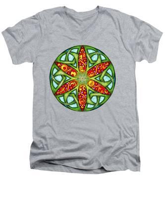 Celtic Summer Mandala Men's V-Neck T-Shirt