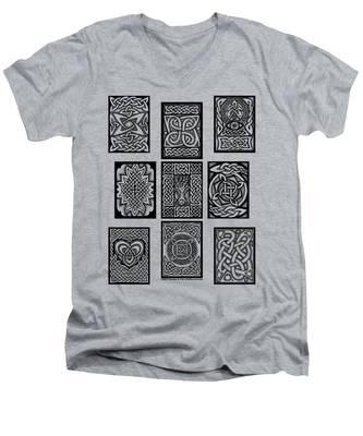 Celtic Tarot Spread Men's V-Neck T-Shirt